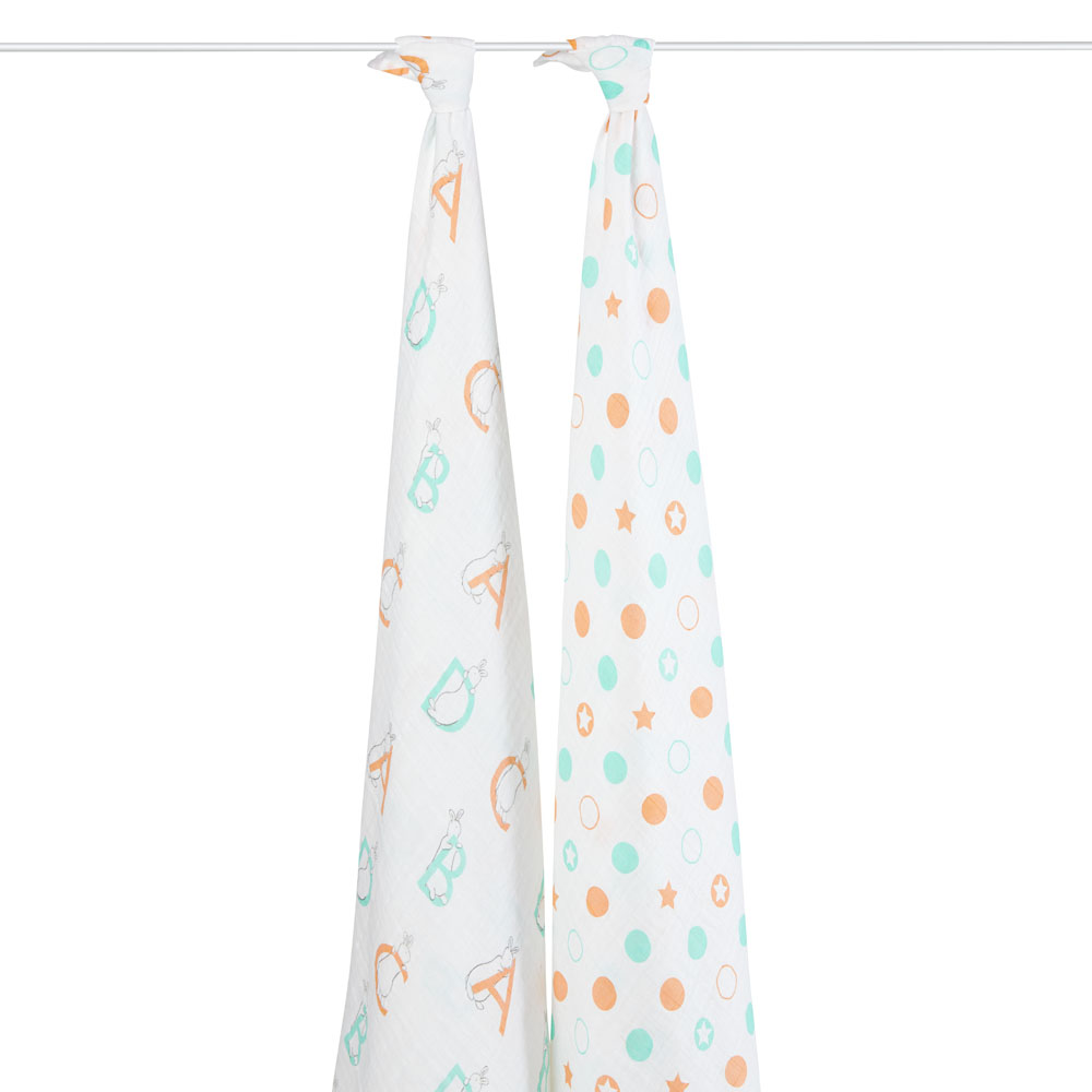 pat the bunny classic swaddle 2-pack product
