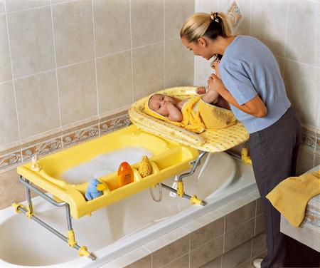 bagnetto e fasciatoio da fissare sulla vasca Brevi Bagnotime