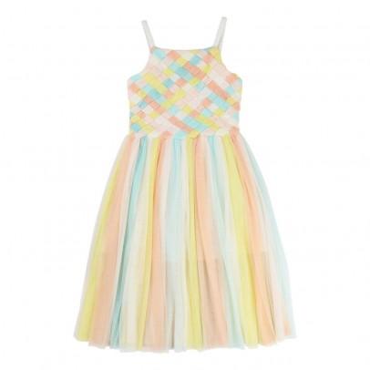 vestito-tulle-trecce-multicolore