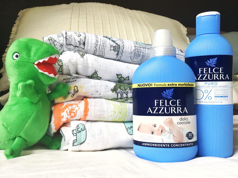 Prodotti senza allergeni e ammorbidente per bambini