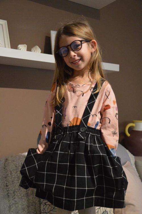 nuovo prodotto stili freschi vendita online gonna salopette quadri zara kids - the Sparkling Mommy