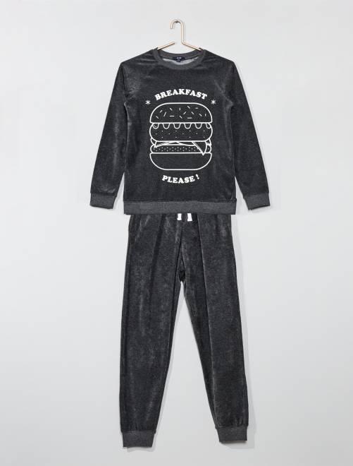 vasta selezione di ee1d4 15152 pigiami-bambino-bambina-cotone-ciniglia-personaggi-autunno